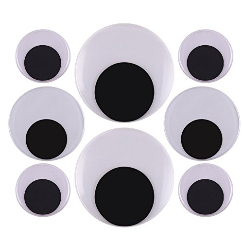 DIYASY 2 Inch 3 Inch 4 Inch Large Googly Wiggle Eyes with Self-Adhesive 8 Pcs for Christmas Decorations