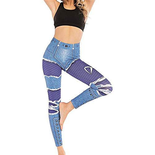 Preisvergleich Produktbild XMRSTAR Frauen Yoga Leggings Gym Fitness Running Pilates Strumpfhose Skinny Pants Hosen Damen Leggings Yogahose Sport-Leggings Jogginghose Fitness Workout Leggins Stretch Sporthose Gedruckte Muster