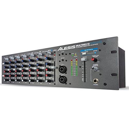 Alesis MultiMix 10 Wireless - 10 Kanal Rackmixer mit Bluetooth Phantomspannung und 2 Band EQ