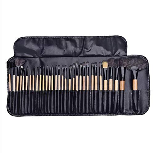 Ensemble de pinceaux de maquillage professionnel, 32 pinceaux de maquillage synthétiques professionnels, avec sac de rangement professionnel, pinceaux de maquillage (Couleur primaire)