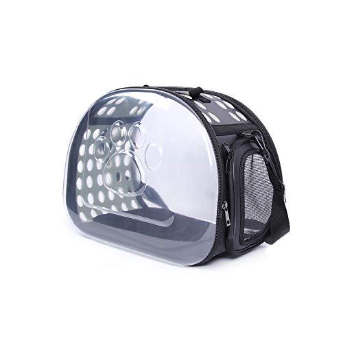 Conysan transparente und atmungsaktive Rucksack wie Raumkapsel für Haustier wie Katze und Hunde (Schwarz)