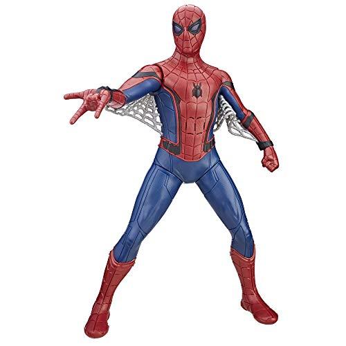 Spider-Man Boneco Figura de Ação Homem Aranha Eletrônico Vermelho/Azul/Cinza 16'