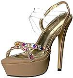 Johnathan Kayne Women's Scarlet Heeled Sandal, Taupe, 11 M US