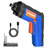 Cordless Screwdriver 4V Max, SORAKO Electric Screwdriver 6Nm, Rechargeable Power Screwdriver Set with 10 Accessory Kit and USB Charging Cable