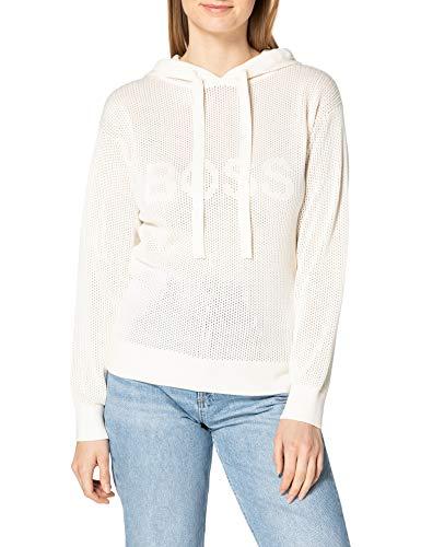 BOSS C_Feddi 10233897 01 Jersey, Color Blanco Abierto, S para Mujer