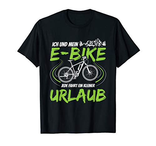 E Bike Ebike Elektrofahrrad E-Bike Elektrorad Fahrrad Biker T-Shirt