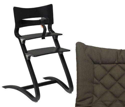 Aktion Leander – Chaise haute avec protection et rembourrage disponible en couleurs assorties, couleur : noir vert