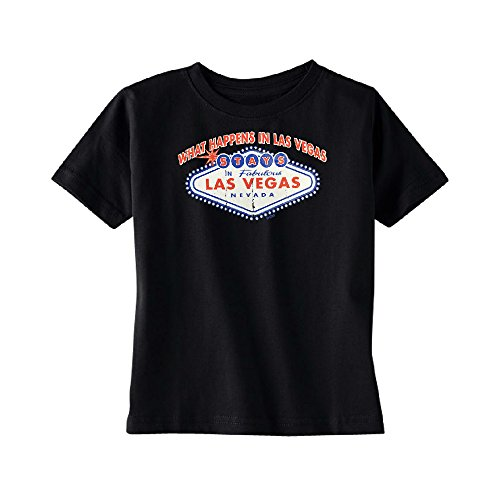 What Happens in Las Vegas Stays in Las Vegas Toddler T-Shirt Funny Kids Black 2T
