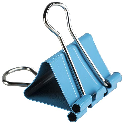 JAM PAPER Colorful Binder Clips - Medium - 1 1/4 Inch (32 mm) - Blue Binderclips - 15/Pack Photo #4