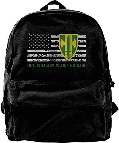 Décimo octava Brigada de la Policía Militar Vintage Bolso de Hombro de Lona Unisex Mochila de Viaje Mochilas Escolares