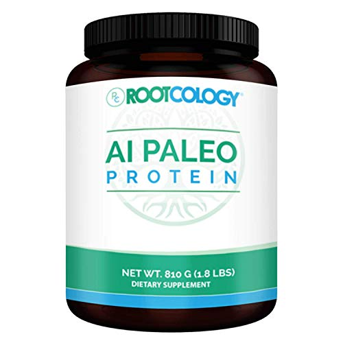 Rootcology AI Paleo Protein - Dairy-Free and Soy-Free 26g Hydrolyzed Beef Protein - Dietary Supplement Powder for Energy and Muscle Support by Izabella Wentz (Unflavored - 810g / 30 Servings)