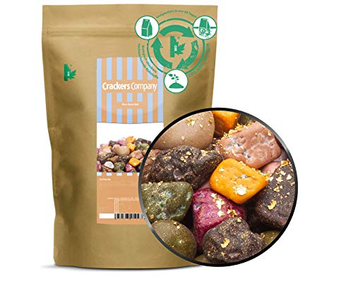 Schokoladen Kieselsteine mit 24 Karat Blattgold