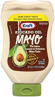 Kraft Avocado Oil Mayo 22oz Squeeze Bottle (Pack of 3)