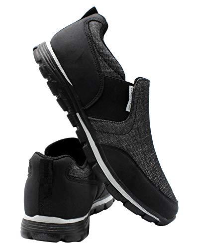 London Fog Mens Berwick Slip ON Sneaker,Black,10.5