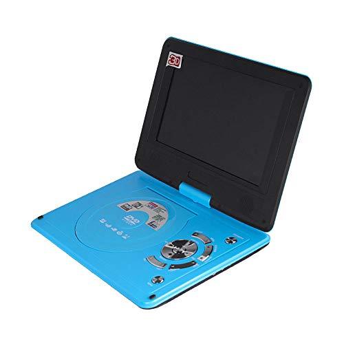 Draagbare DVD-speler, hoge resolutie, batterij, afspelen in formaten AVI/RMVB/MP3/JPEG, ondersteuning USB en SD-kaart (blauw)