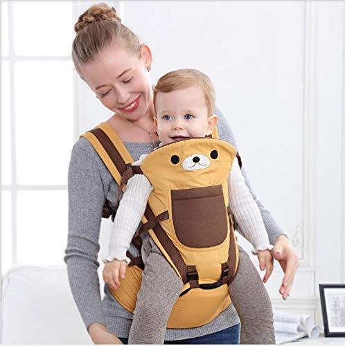 Portabebés, taburete de cintura horizontal multifuncional para bebé, taburete de asiento, luz de taburete simple-Amarillo