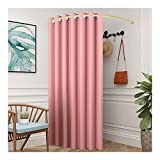 Dressing Changing Room,Fitting Room,A Women's Clothing Store,C-shaped Curtain Rod Changing Room, Curved Curtain Rod, For Clothing Stores And Shopping Malls Baiying ( Color : Pink-A , Size : 80cm )