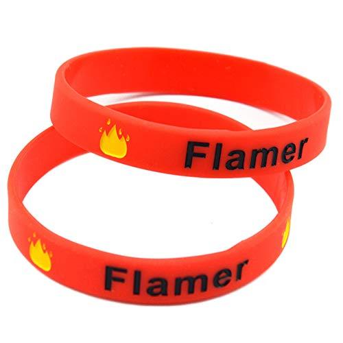 HSJ 10 Unids Flamer Flameatherwer Pulsera De Silicona Respetuosa con El Medio Ambiente Pulsera De Goma De Moda Perfectamente Inspira Fitness, Baloncesto, Búsqueda De Deportes, Ejercicio Y Tareas