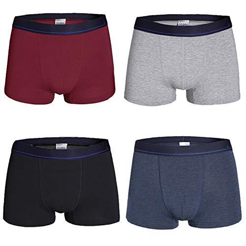 Ehpow Herren Boxershorts Unterwäsche Männer Retroshorts Klassischen Grundfarben Baumwolle Unterhose (Medium, 4er-888)