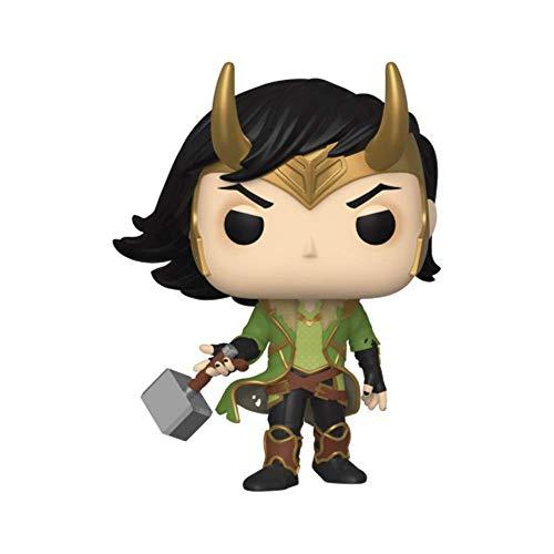 Marvel Loki PX Esclusiva Free Comic Book Day 2020 Pop! - Figura in vinile #615 con maglietta grande e fumetti
