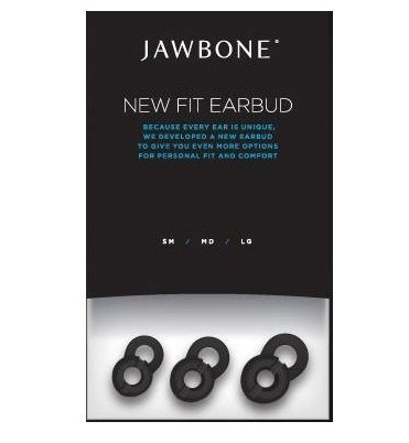 Aliph 3 Pack Jawbone Ergonomic Design New Fit Earbud Earbuds Eargel Eargels for Jawbone ICON (Thinker Black, Thinker Silver, Ace, Hero, Rouge, Catch, Bombshell) Prime and JAWBONE 2 Series.