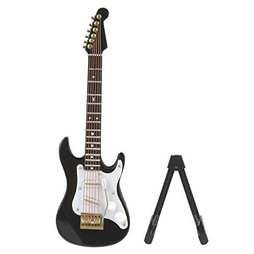 Oumefar Mini Modelo de Guitarra eléctrica con Soporte, Instrumentos Musicales en Miniatura...