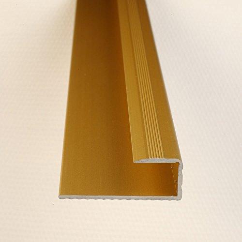 Einfassprofil Abschlussleiste für Böden Gold 1000 x 15 mm