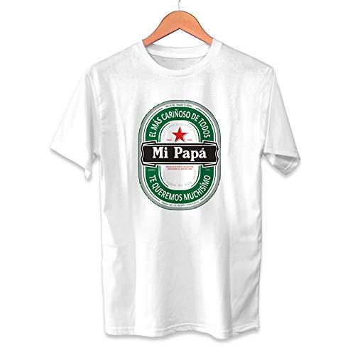 Muy Chulo Camiseta El más cariñoso de Todos MI PAPÁ Heineken - Unisex Tallas Adultas e Infantiles - Frase Divertida Cerveza - Regalo Original para Papá Cumpleaños (M)