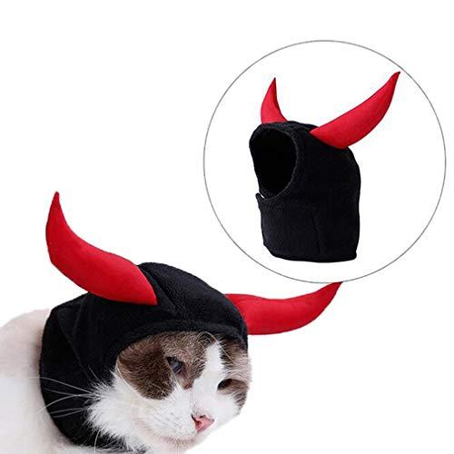 Halloween Hund Katze Haustier Cosplay Kostüm Kleidung Kopfschmuck für Haustiere für Katzen, Halsumfang: 19-26 cm