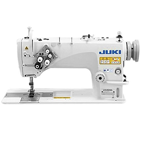 Juki LH-3528A 2 Needle Semi-Dry Head Lockstitch Industrial Machine (1/4inch Standard Gauge) Includes Table and Clutch Motor (Table Comes Assembled)