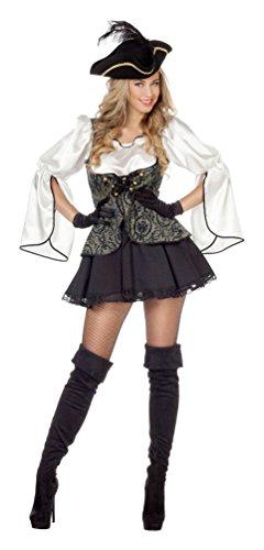Karneval-Klamotten Pirat Kostüm Damen Piraten-kostüm Frauen sexy Piratin Kostüm Pirat Damen Kostüm Karneval Damenkostüm