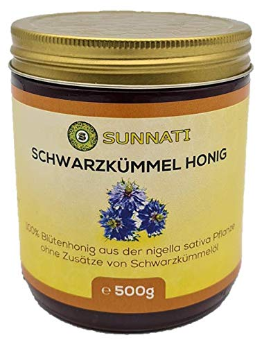 Sunnati® Original Schwarzkümmel HONIG aus der Nigella Sativa Pflanze 500g 0,5kg