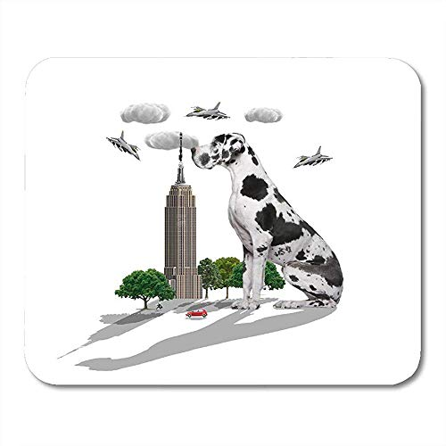 Gestikte randen Gaming Mousemat, Antislip Rubber Mouse Pads, Glad Office Pad,Empire Great Dane State Building York Giant Laptop Office Mouse Mat, Computer Muizen Pad,30X25CM