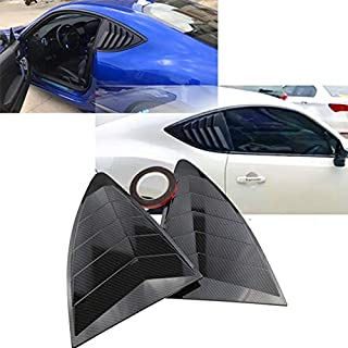 Rear Quarter Window Louvers 2 pcs/set Spoiler Panel for Scion FRS for Subaru BRZ for Toyota 86 GT86 2013-2018 ABS Stickers