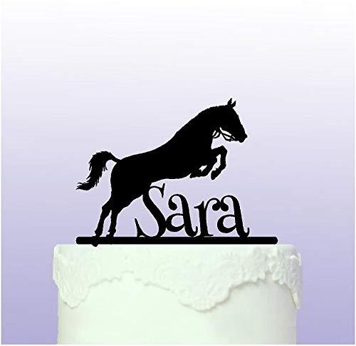 Kuchendekoration Springendes Pferd, personalisierbar