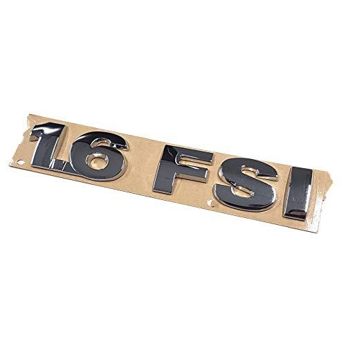 Volkswagen 1K0853675F739 Original VW Schriftzug 1.6 FSI Emblem Logo Aufkleber chrom glänzend