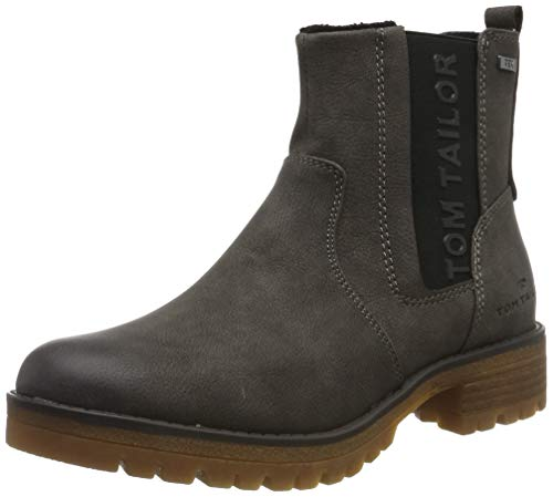 TOM TAILOR Damen 7991005 Stiefeletten, Grau (Coal 00013), 41 EU