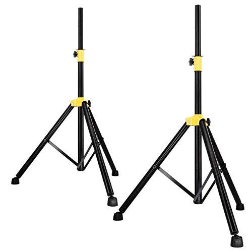 PremiumX 2X Dreibein Stativ Tripod Lautsprecher Audio Boxen Ständer schwarz 105-165cm Haus Garten Camping Lautsprecherständer