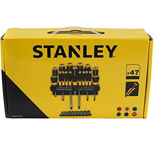 STANLEY - Juego de 47 destornilladores