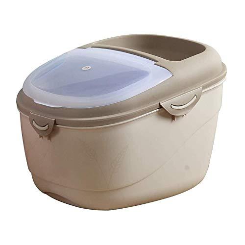 YEXINTMF Almacenamiento de contenedores de Cereales Envase de arroz Alimentos sellados, Caja de refrigerios, Alimentos para Gatos y Alimentos para Perros, Sellado y a Prueba de Humedad, 10 kg