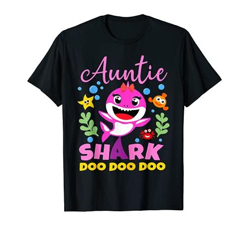 Auntie Of The Baby Shark Birthday Auntie Shark T-Shirt