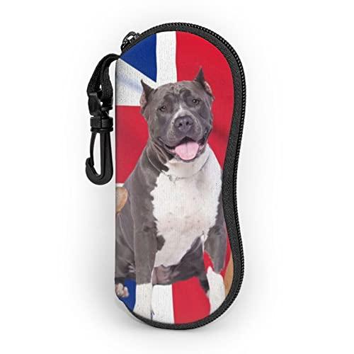 zsst Funda para gafas de sol de neopreno con cremallera, para perros, mascotas, con diseño de bandera del Reino Unido, para hombres y mujeres o niños