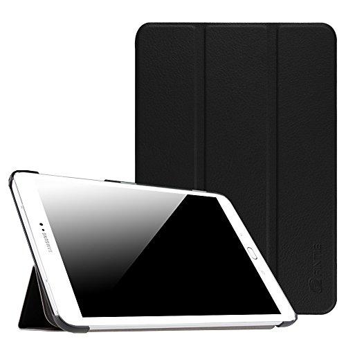 Fintie Hülle für Samsung Galaxy Tab S2 8.0 T710 / T713/ T715 / T719 (8 Zoll) Tablet-PC - Ultra Schlank Superleicht Ständer SlimShell Cover Schutzhülle mit Auto Schlaf/Wach Funktion, Schwarz