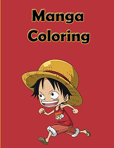 Manga Coloring: Funny Japanese Anime Manga Coloring Books & Naruto One pice...