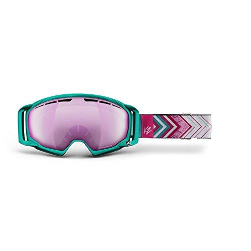 K2 Skis Damen Brille Skibrille Captura Zeiss, Jade Bouquet Silver Smoke
