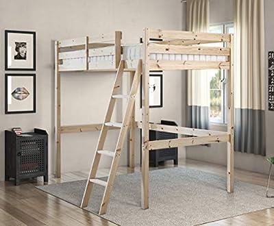 4ft 6 Wooden High Sleeper Loft Bunk Bed