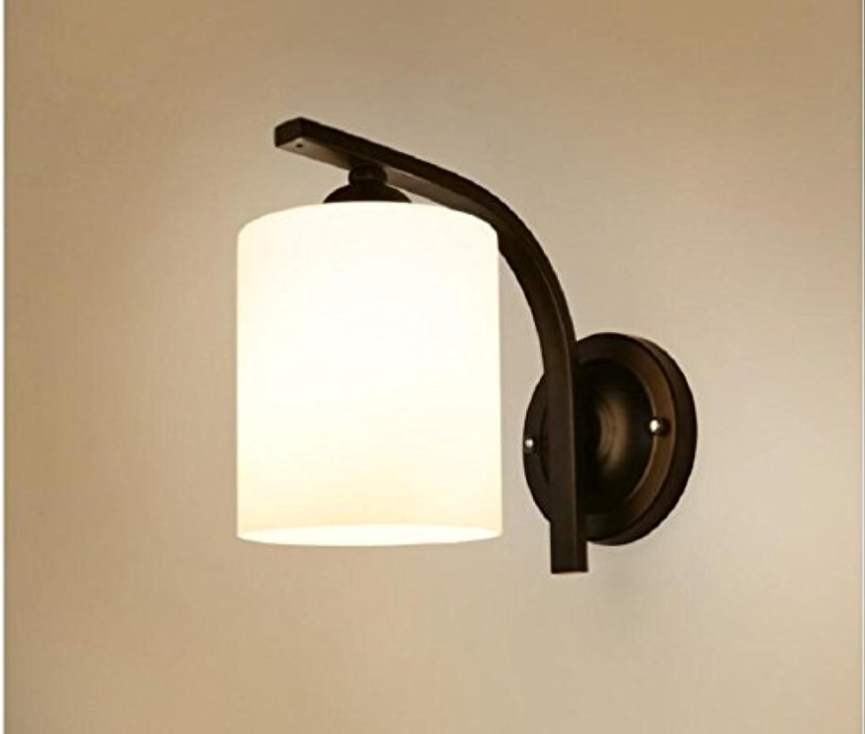AMZH Amerikanische Retro natürliche kreative Metall Nachttischlampe Schlafzimmer Treppenhaus Laterne Durchmesser 13cm, 19cm hoch, 20cm Weg von der Wand
