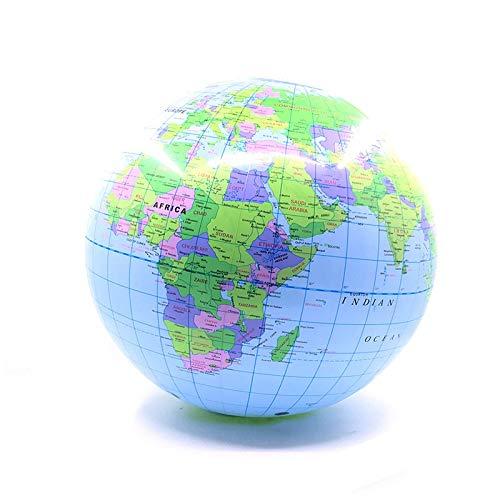 HUIJUNWENTI Tierra de Bola de 30 cm Inflable Blow Up Mundial de la Tierra del Globo Bola Planeta Educativo Océano Kid Aprendizaje Geografía Toy Home