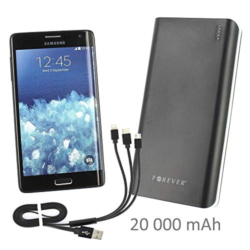 Forever Externer Akku 20 A 2 x USB + Universalkabel für HTC Desire 650 - Desire 10 Lifestyle - One A9s - Desire 628 - Desire 825 - Desire 310 - One M8S - Desire 530