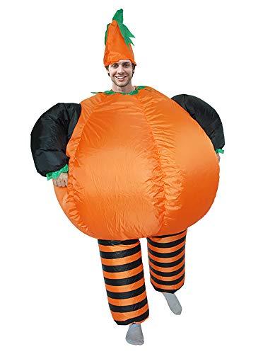 CHOBES Aufblasbares Kürbis-Kostüm für Erwachsene, Halloween-Kostüm, Orange, Kostüm, aufblasbar, Partyanzug